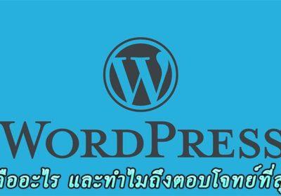WordPress คืออะไร ใและทำไมถึงน่าสนใจที่สุด